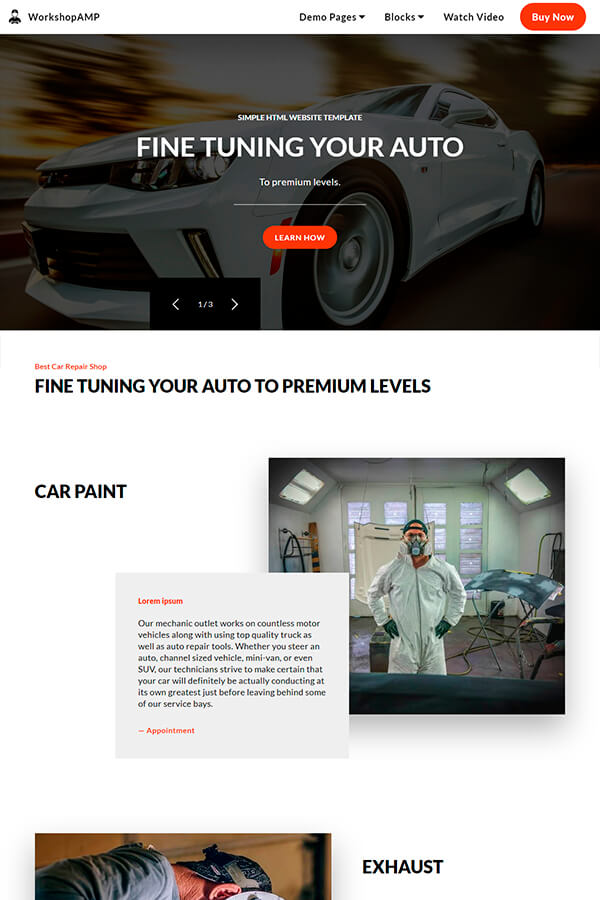 Car Repair HTML Template