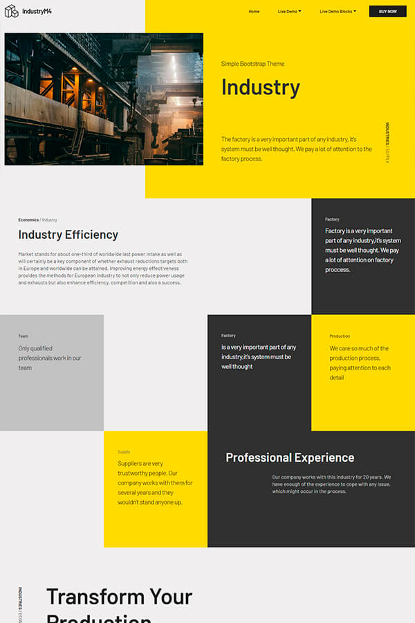 Simple Industry Bootstrap Theme