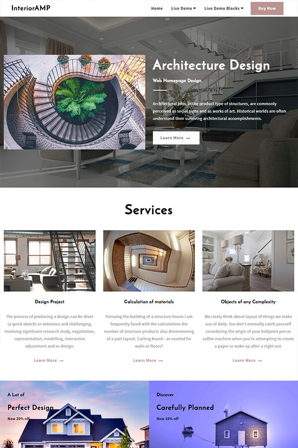 Architecture Web Homepage Design