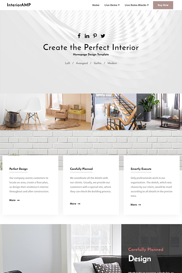 Homepage Design Template