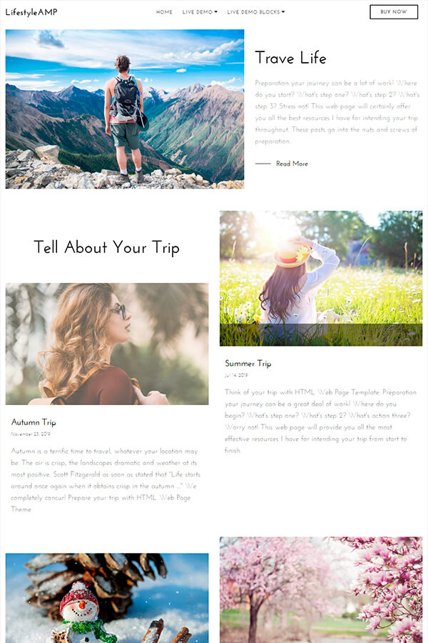 Travel HTML Page Template