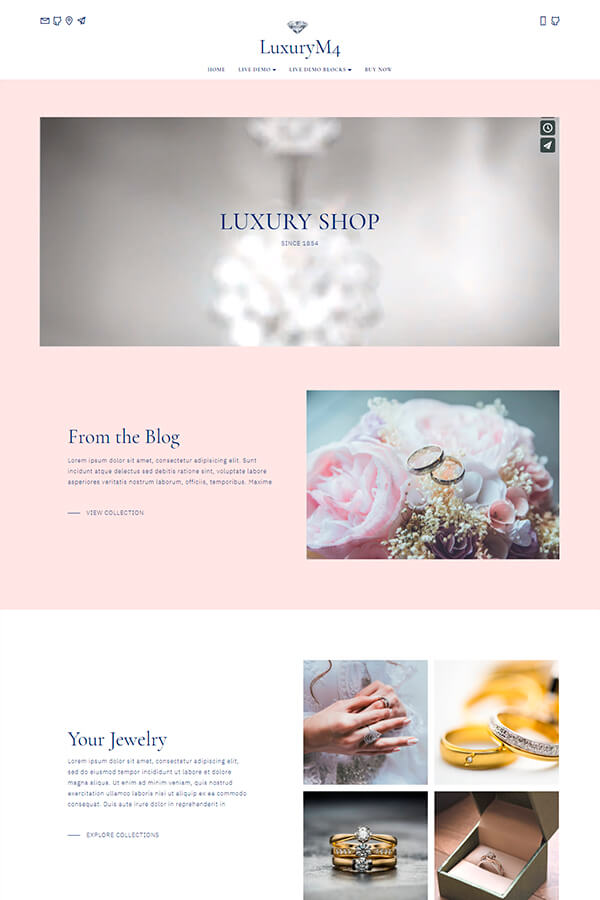 Luxury Shop HTML Template