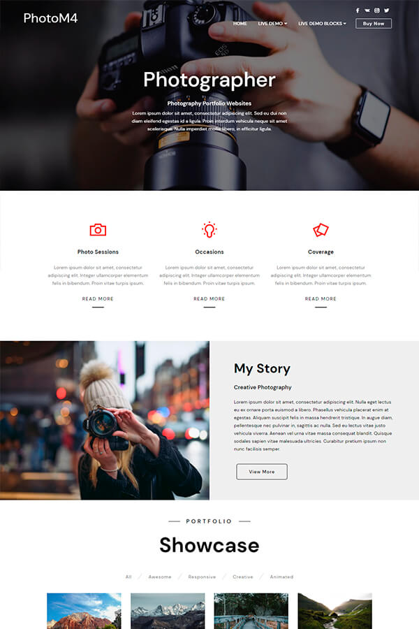 Photography Portfolio Website Template