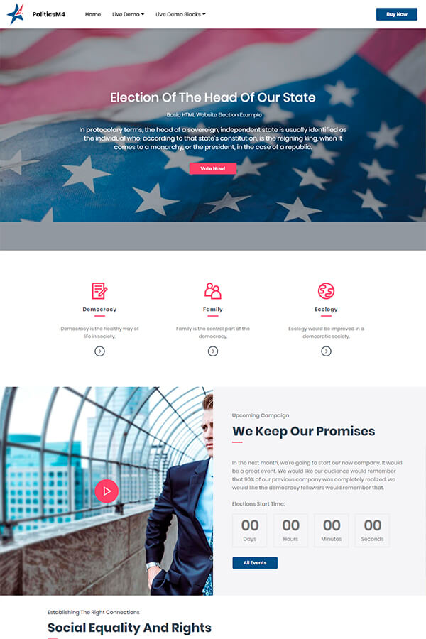 Basic Election HTML Website Template