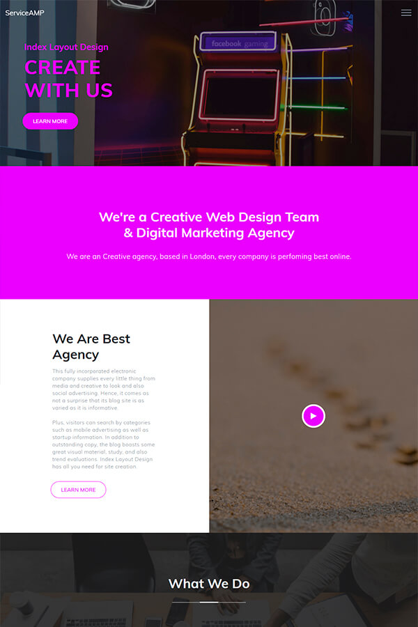 Agency HTML Layout Design